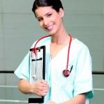 Female nurse smiling — Stock Photo #7893229