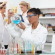 Stock Photo: Three womin science laboratory