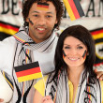 German football fans — Stock Photo