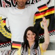 Couple supporting Germany — Stock Photo