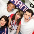 Young supporting French sports team — Stock Photo