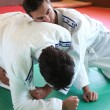 Stock Photo: Judo hold down.