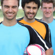 3 football players — Stock Photo #7895460