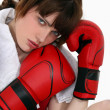 Young female boxer — Stock Photo