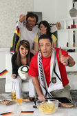 Supporters of Germany soccer team — Stock Photo