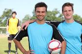 Giocatori di gioco del calcio — Foto Stock