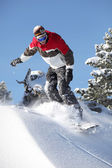 Male snowboarder — Stock Photo