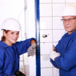Stock Photo: Electricians