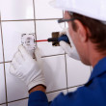 Electrician fitting plug — Stock Photo #7904059