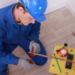 Stock Photo: Electriciworking