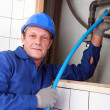 Close shot of plumber — Stock Photo