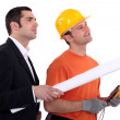 An architect and an electrician. — Stock Photo #7904656