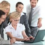 Sales team in training — Stock Photo