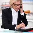 Secretary taking notes — Stockfoto #7905286