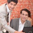 Men with laptop — Stock Photo #7905812