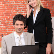 Stock Photo: Businesspeople working at home