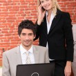 businesspeople, lavoro da casa — Foto Stock