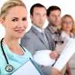 Stock Photo: Nurse and differents jobs
