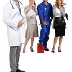 Doctor, mechanic, hairdresser and secretary. — Stock Photo