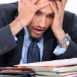 Stressed young businessman — Foto Stock