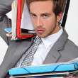 Stock Photo: Moverwhelmed by files