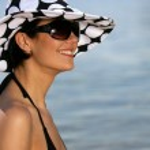 Attractive woman in the sea — Stock Photo #7907161