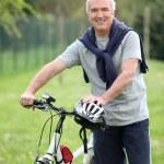 Man riding his bike — Stock Photo #7907636