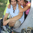 Young couple camping — Stock Photo #7908406