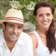 A nice couple on a holiday trip. — Stock Photo #7909170