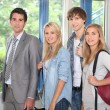 Students and teacher at school — Stock Photo #7909520