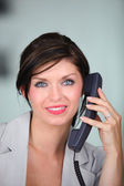 Businesswoman on the telephone — Stock Photo