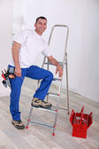A craftsman posing — Stock Photo