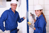 Two electrician. — Stock Photo