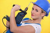 Young craftswoman posing — Stock Photo