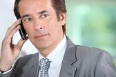 Businessman on the phone. — Stock Photo