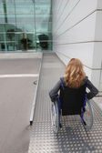 Woman in a wheelchair — Stock Photo