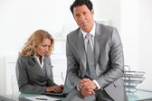 Businessman and woman — Stock Photo