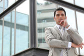 Doubtful businessman — Stock Photo