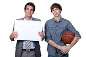 Basketball player and coach — Stock Photo