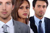 Three young executives — Stock Photo