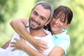 Portrait of a happy couple — Stock Photo