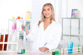 Chemistry student — Stock Photo