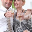 Couple toasting with champagne — Stock Photo #7910129