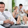 Man at a house party — Stock Photo