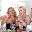 Colleagues drinking wine — Stock Photo #7910319