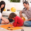 Stock Photo: Family spending quality time together