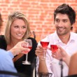 Two couple at a restaurant — Stock Photo #7910534