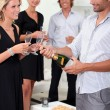 Stock Photo: Popping champagne