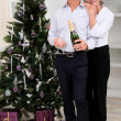 Senior couple celebrating Christmas - Foto de Stock
