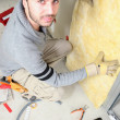 Mpadding walls with insulation — Stock Photo #7911222